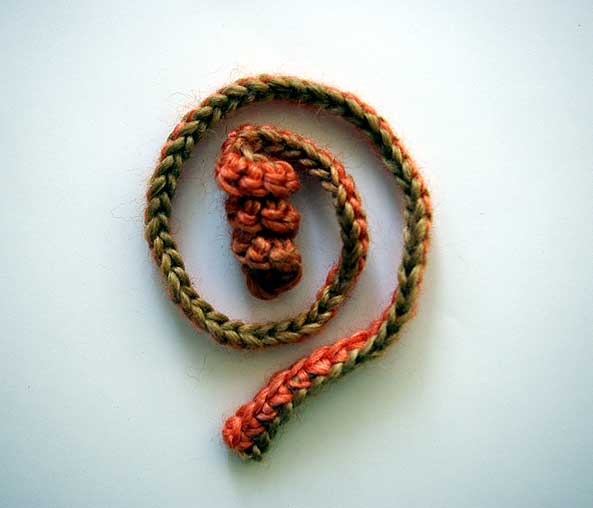 Crochet Curly Q Hair Ties : This curly tie makes a perfect key chain, hair tie, handle for your ...